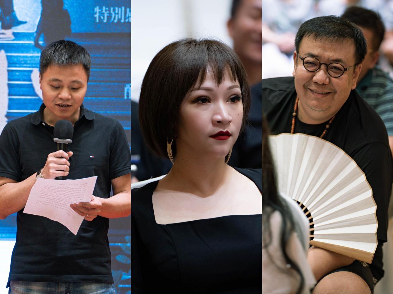 從左往右依次為:出品人凡名水、總制片人Yoyo Li、導演柳七.jpg