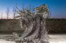 这个中国人用汉字做成的镂空雕塑,在纽约美炸了