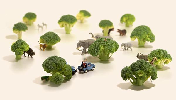 日本艺术家田中达也用微型人偶创造迷你国度。图/宽宏艺术提供。