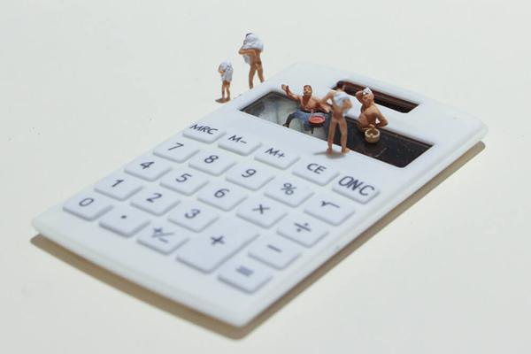 计算机是男人们的露天浴场。图/邱家琳摄。