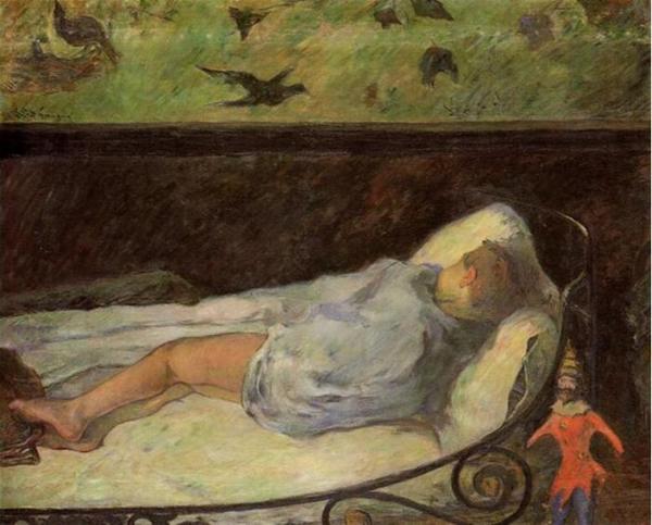 高更 Gauguin - Young Girl Dreaming (Study Of A Child Asleep)
