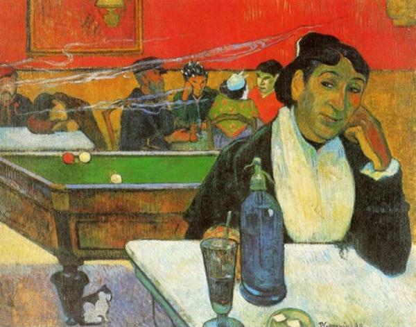 高更 Gauguin - NIght Cafe in Arles (Madame Ginoux)
