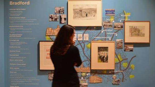 大卫·霍克尼在布拉德福德写生街景地图