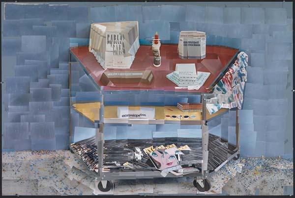 颜料手推车,摄影拼贴,1985年