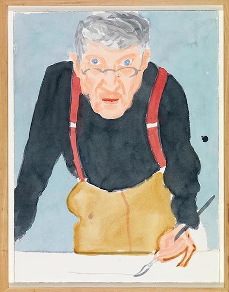 红背带的自画像,2003