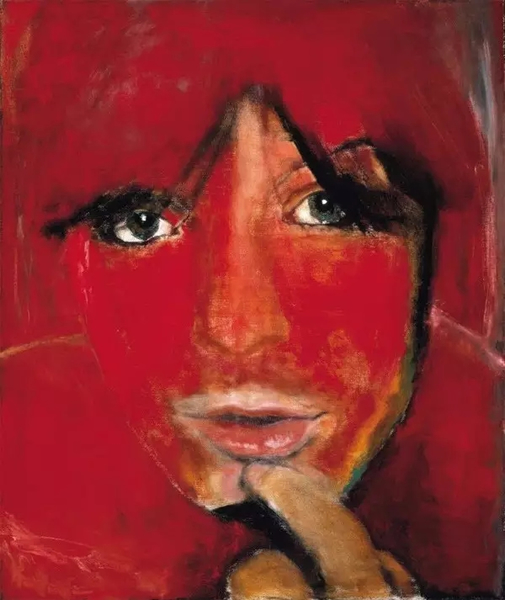 Jule - the Woman,1985,125 x 105 cm.