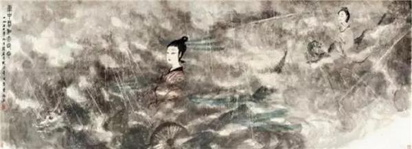 傅抱石 云中君和大司命 114×315cm 设色纸本 1954年