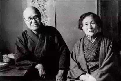 傅抱石的日本老师金原省吾夫妇