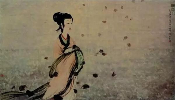傅抱石1954年3月创作的《湘夫人》(郭沫若纪念馆藏)