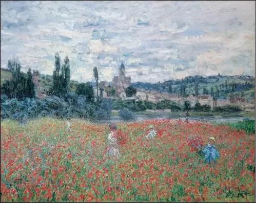莫奈的《在维特尼的罂粟花田》