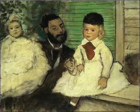 德加的《卢多维克 勒皮克和他的女儿》