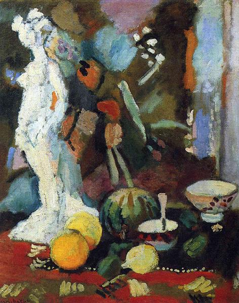 马蒂斯,《带石膏像的静物画》,1906年