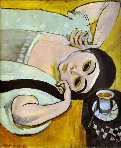 马蒂斯,《洛雷特和一杯咖啡》,1917年