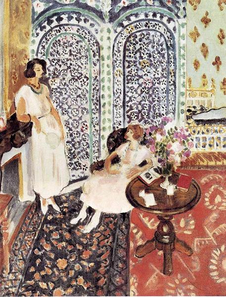 马蒂斯,《摩尔式屏风》,1921年