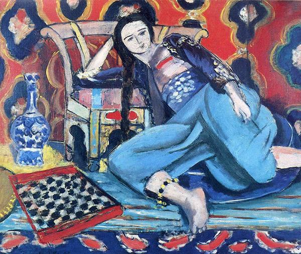 马蒂斯,《后宫佳丽与土耳其椅子》,1928年