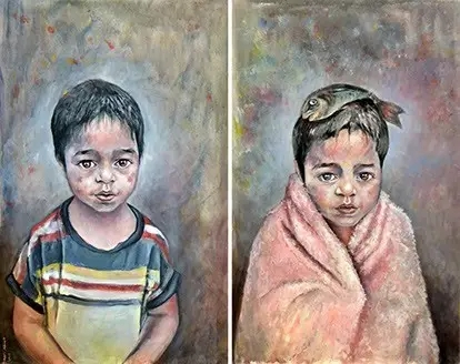 叙利亚艺术家阿卜杜拉·奥马利早期油画作品