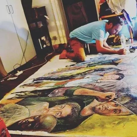 叙利亚艺术家阿卜杜拉·奥马利