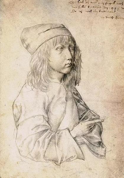 丢勒,十三岁时的自画像,1484年